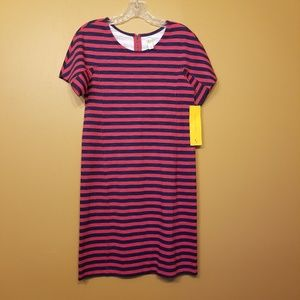 LOLE | Red/Navy Striped Dress (Size Small Petite)
